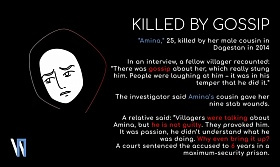 """Amina,"" 25 years-old, killed by her male cousin in Dagestan in 2014"