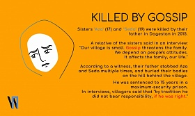 "Sisters ""Aza"" and ""Seda"" were killed by their father in Dagestan in 2015"